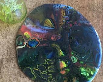 Fused Glass Lazy Susan Pot Melt