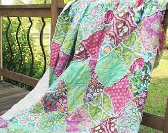 Rag Quilt Pattern for Twin, Full, Queen and King Size Quilts