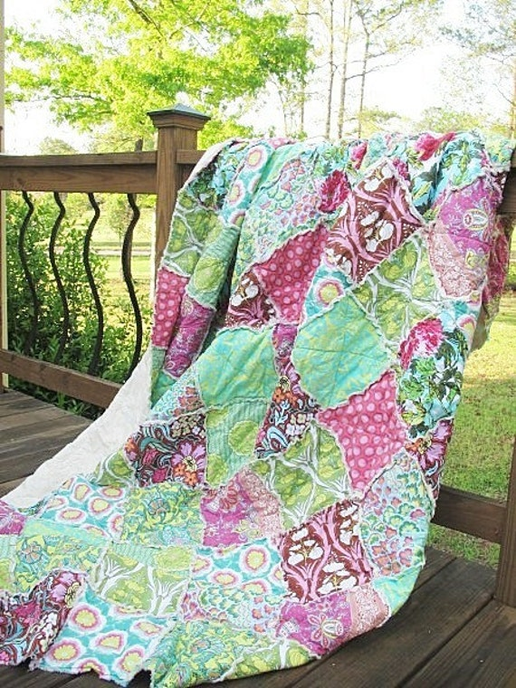 Rag Quilt Pattern For Twin Full Queen And King Size Quilts