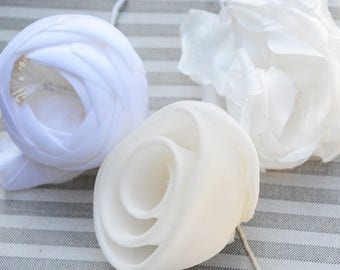Millinery Flowers, Bridal Flowers, Millinery, Millinery Roses, White and Cream Millinery for Brides, Craft Supplies