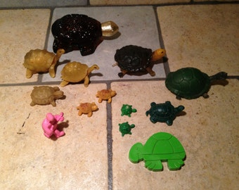 Instant Collection of Small Turtle Figurines (5)