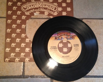 1979 Donna Summer Hot Stuff/Journey to the Centre of Your Heart Record by Casablanca Records