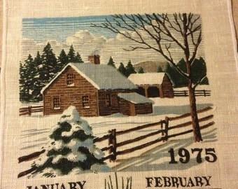 1975 Calendar Towel