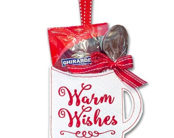 Warm Wishes Gift Card & Treat Holders 'In the Hoop' Embroidery Machine Design Set