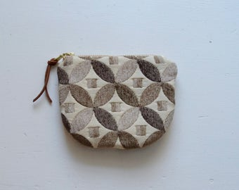 Brown Peels Padded Round Zipper Pouch / Coin Purse / Gadget / Cosmetic Bag - READY TO SHIP