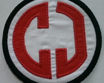 Iron On Monogram Patch/ applique, monogram embroidered applique patch