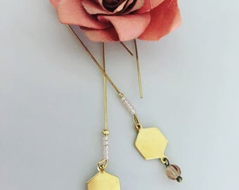Honey drop dangles earrings
