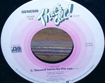 Genesis That's All & Second Home By The Sea 45 RPM Record