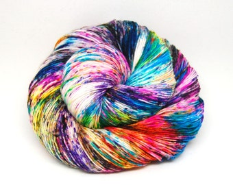 "Hardcore Sock Yarn - ""Supernova"" - Handpainted Superwash Merino - 463 Yards"