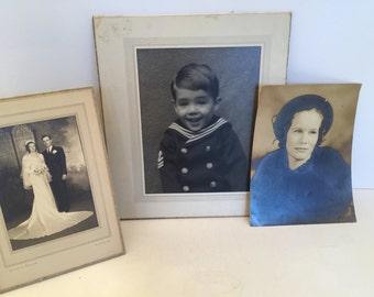 3 Vintage Family Photos