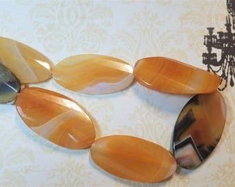 Brazilian Agate , oval  pendant size