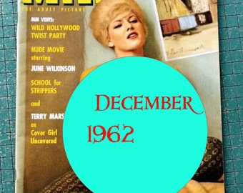 Modern Man, December 1962, vintage Adult Picture magazine, man cave,