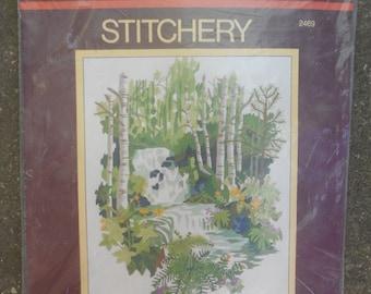 """Vintage (1979) Stitchery Kit - """"Rain Forest"""" by Sunset"""