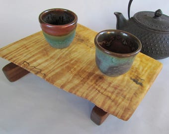 Beautiful CURLY Buckeye Cheese/Serving Board/Sushi