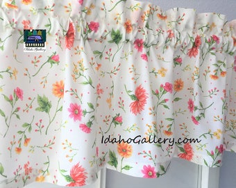 Country Summer Wild Flowers Valance Curtain Window Treatment by Idaho Gallery