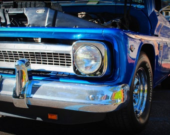 1960s Era Chevrolet Truck -  Classic Truck - Chevy - Garage Art - Silver Classic Car - Pop Art - Fine Art Photograph