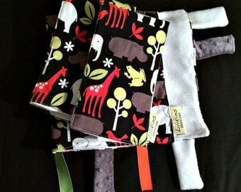 Night Safari - Security Blanket and Set of 2 Burp Cloths