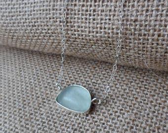 Genuine sea glass, ocean tumbled mermaid tear Necklace