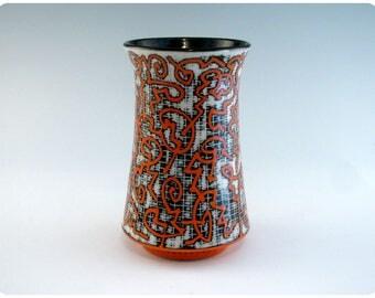 Etched Porcelain Tumbler