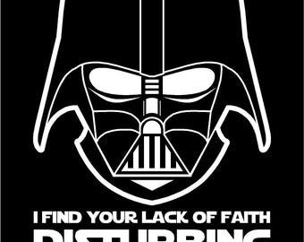 Star Wars Darth Vader Lack of Faith Disturbing T-Shirt last jedi helmet