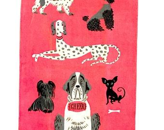 Vintage Tammis Keefe Dog Towel CHEER