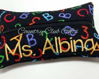 Tissue holder, personalized tissue holder, Teacher gift