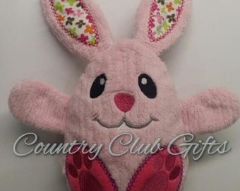 Handmade peekaboo bunny in egg, stuffed bunny, peekaboo bunny, reversible toy, rabbit, Easter basket, stuffed toy