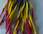 Ready to ship 9ct Rainbow multi colored pride Wool Dreads dreadlocks colorful clubbing One Of A Kind