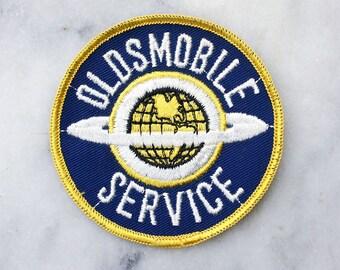 Vintage Oldsmobile Service Uniform Patch / 1970's Jacket Patch