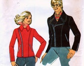 Misses' Motorcycle Jacket - Simplicity 5319 - Size 12 Vintage Sewing Pattern