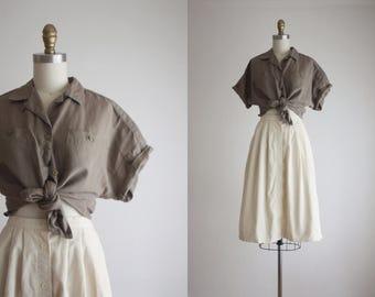 olive khaki blouse