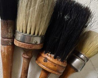 Antique Paint Brush 4 with real hair, nice patina, wonderful craftsmenship,antique, vintage