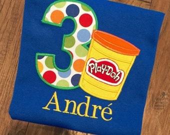 Boys PlayDoh birthday, PlayDoh Birthday Party, Personalized Playdoh Shirt, Ideas for Playdoh Birthday. PlayDoh Shirts for Kids,