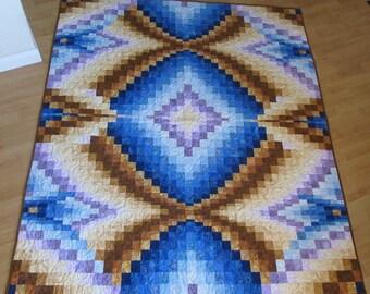 Batik Bargello Lap Quilt