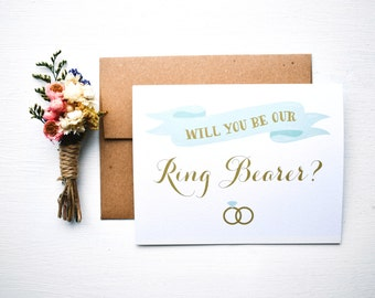 Ring Bearer Wedding Card  Will you be my Ring Bearer  Bridal Party  Bridesmaid Card  Wedding Party  Will you be our ring bearer