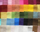 SALE Hand Dyed Felted Wool Scraps Bundle Number 1241 By Quilting Acres