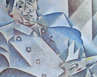 Portrait of Picasso/Still Life, Cubism, Modern Art, 1970 2-Sided Book Page, Fine Art Print, Color Plate