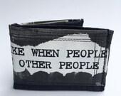 Bifold wallet, recycled wallet, fabric wallet, men's wallet