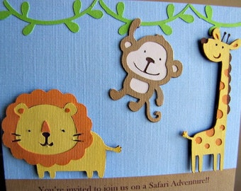 Safari Party Invitations and Thank You Cards - Reserved for FANNYKRISTYATI