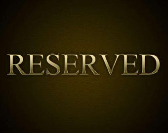 Reserved for Maggie R - Payment 2