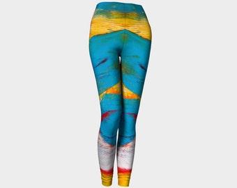 Leggings, Colorful leggings, Yoga pants, Blue yoga pants, Womens Yoga Pants, Long Yoga Pants, Yoga Gear, Running Pants