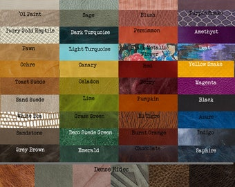 Leather Swatch Options for Permanent Baggage Leather Bags
