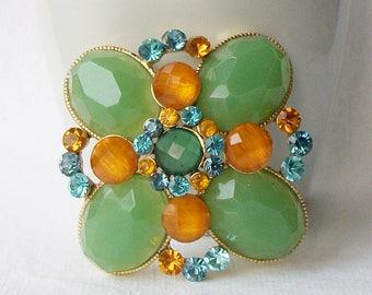Vintage Crystal Brooch