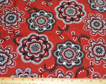Western Cowboy Cowgirl Red Cotton Fabric Robert Kaufman Way Out West 1 yard listing
