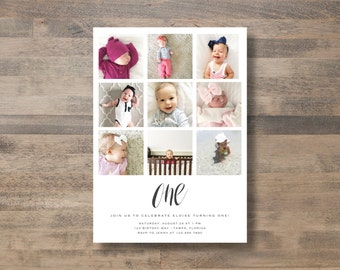 photo collage INVITATION - diy printable