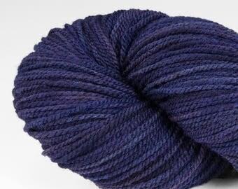 Handpainted DK weight yarn, locally grown and spun Targhee wool, Meriwether, 100 g, Lupine