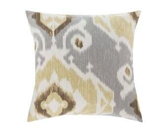 NEUTRAL Gold Pillow Cover.Decorator Pillow Cover.Home Decor.Large Print. DELHI FOSSIL. Cushions. Cushion.Pillow. Premier Prints