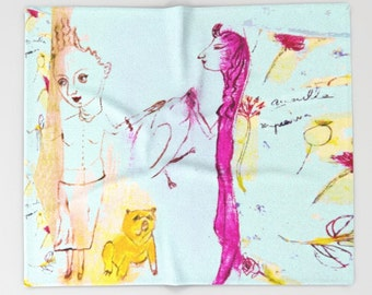 Throw Blanket, bedding, decor home, sofa blanket, travel blanket, from painting, girl, spanish art