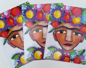 Frida Girl Postcard Set