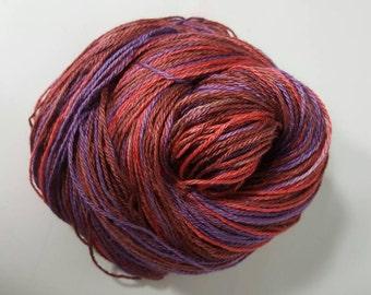 Suri Alpaca Yarn, Fingering 3 ply Alpaca Yarn, Suri Alpaca/Polwarth/Silk 80/10/10, Hand Dyed Yarn, Wine Tasting